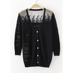 delicate lace button up cardigan