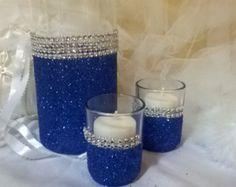 wedding centerpiece purple glitter vase 1 vase by thesparklebooth