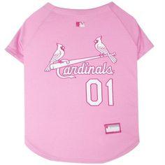 St. Louis Cardinals Pink Pet Jersey