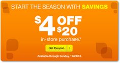 i heart cvs: $4 off $20 coupons issued to some customers, available until 11/24