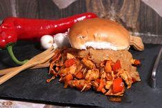 De gezonde recepten van Ursie Pulled Pork, Lunches, Sandwiches, Chicken, Ethnic Recipes, Food, Mushroom, Red Peppers, Shredded Pork