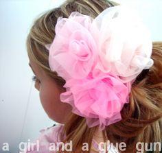 Triple flower headband