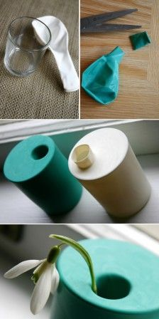 How-To: Make Your Own Mini Vase in Under 30 Seconds. Glass to mini vase via balloon. Diy Projects To Try, Craft Projects, Craft Ideas, Diy Ideas, Decorating Ideas, Decor Ideas, Fun Crafts, Diy And Crafts, Do It Yourself Inspiration