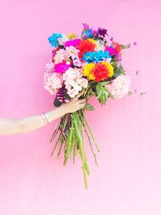 buy yourself a big bouquet of flowers!