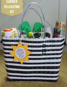 Pretty cool idea, beach themed end of year gift for teacher