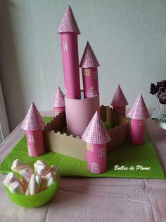 Bulles de Plume: 5 ans et un anniversaire de princesse Le château de princesse #carton #chateau #chateauencarton