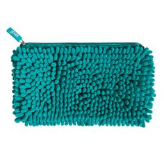 Magnetic Fuzzy Pocket Pencil Case - Aqua