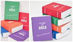 fab printable boxes designed to look like year books