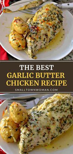 Easy Dinner Recipes, Easy Meals, Yummy Dinner Ideas, Meal Ideas For Dinner, Easy Recipes, Dessert Recipes, Desserts, Garlic Butter Chicken, Garlic Shrimp