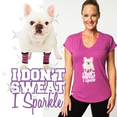 Have you seen our new t-shirt yet? If you love frenchies and fitness, this is your new must-have workout tee! Health And Fitness Tips, You Fitness, Fitness Goals, Exercise Workouts, Workout Videos, Frenchie Puppies, Jessica Smith, New T, Workout Motivation