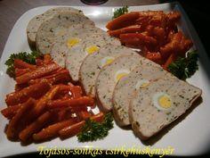 Tojásos-sonkás csirkehúskenyér 🍴 Easter Recipes, Meat Recipes, Sausage, Cooking, Vaj, Food, Christmas, Kitchen, Xmas