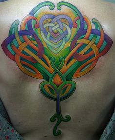 Colored Celtic knot.