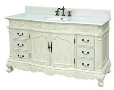 Antique White Cabinets Bathroom