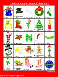 FREE Printable Christmas Bingo - Christmas Games at Noella Designs Could be a scavenger hunt on a Christmas light drive.