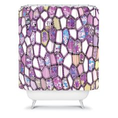 1000 images about appartment ideas on pinterest shower for Purple mosaic bathroom accessories