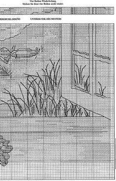 Solo Patrones Punto Cruz (pág. 202) | Aprender manualidades es facilisimo.com Cross Stitch Sea, Cross Stitch Flowers, Cross Stitch Charts, Cross Stitch Designs, Cross Stitch Patterns, Cross Stitching, Cross Stitch Embroidery, Cross Stitch Landscape, Blue Cross