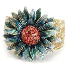 70fe25db9d Photo of Blue Daisy Cuff bracelet Daisy Bracelet