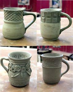 creative pottery mugs - Google Search | Pottery | Pinterest | Pottery, Pottery ideas and Slab ...