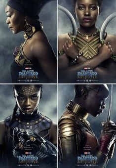 Marvel ''Black Panther'' Women of Wakanda get their own Character Posters in Shuri Okoye Ramonda Black Panther Marvel, Shuri Black Panther, Black Panther 2018, Female Black Panther, Black Panther Character, Dc Movies, Marvel Movies, Black Girls Rock, Black Girl Magic