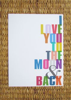 To the Moon & Back Print. $15.00, via Etsy.