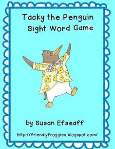 Tacky the Penguin Sight Word Games-Hurry up! This giveaway promotion ends at CST on Sight Word Games, Sight Word Activities, Sight Words, Literacy Games, Classroom Activities, Classroom Ideas, Literacy Centers, Classroom Organization, Tacky The Penguin