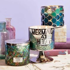 Mermaid candles by bath and body works