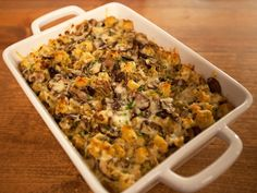 Get this all-star, easy-to-follow Mushroom and Leek Bread Pudding recipe from Ina Garten