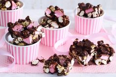 Caramel popcorn and salty roasted peanuts make this rocky road recipe extra special.