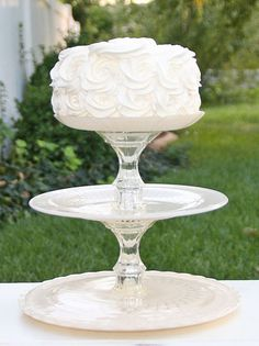 Ivory Shabby Chic 3 Tier Vintage Reclaimed by RedEggBoutique
