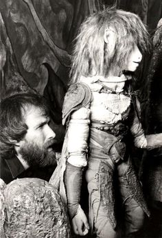 Jim Henson with Jen at the filming of The Dark Crystal.