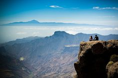 At Roque Nublo, viewing Teide at Tenerife by 45Photos, via Flickr