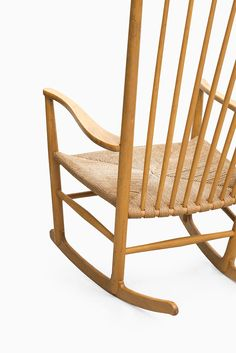Hans Wegner J16 rocking chair by FDB møbler at Studio Schalling #wegner #midcenturymodern