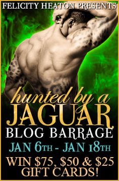 Head over to http://ailsahindhaughabookworm4life.weebly.com/ NOW for more information on Felicity Heaton's 'Hunted by a Jaguar' (book 4 of the Eternal Mates - a paranormal series)