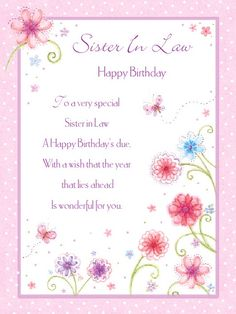 Share sweet lovely free birthday cards for sister in law on birthday wishes for sister in law poem bookmarktalkfo