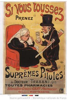 Si vous toussez, prenez Suprêmes Pilules du docteur Trabant, toutes pharmacies ... : 1900 Eugène OGÉ  (1861-1936)