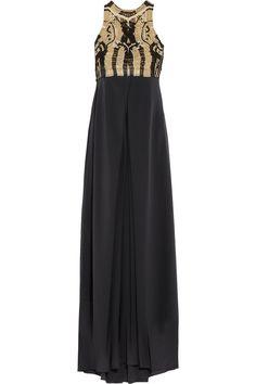 DIANE VON FURSTENBERG Darina metallic macramé and silk-crepe gown £283.1 http://www.theoutnet.com/products/528863