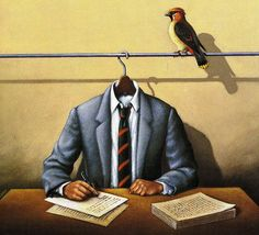 Winters' Tales by Rafal Olbinski by Larry He's So Fine, via Flickr