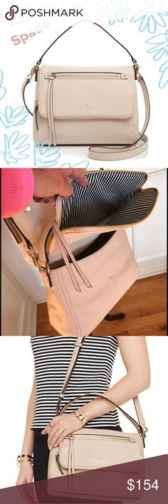 💕NWT💕 Kate Spade Cobble Road Toddy in Porcelain The Spade of Cross-bodies!!!  The color is Porcelain. Great medium size bag 👍. This one will last you forever. Lmk if you have any other questions. 😊. kate spade Bags Crossbody Bags