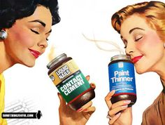 Improve art and retro graphics from this site - The Something Awful Forums Vintage Advertisements, Vintage Ads, Vintage Wife, 1950s Art, Something Awful, Liquid Paint, Paint Thinner, Retro Art, Beauty Secrets