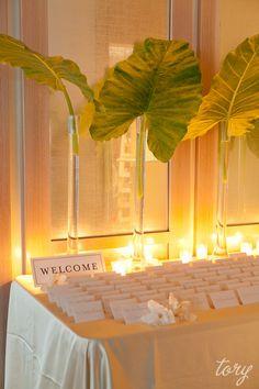 Long Beach Wedding by Tory Williams Photography Mod Wedding, New York Wedding, Floral Wedding, Wedding Events, Wedding Flowers, Dream Wedding, Safari Wedding, Tropical Wedding Centerpieces, Tropical Wedding Decor