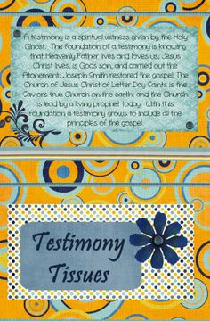 Testimony Tissues by Amy