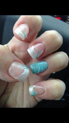 Elsa inspired swirling nails