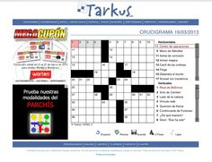 Crucigrama interactivo de www.tarkus.info.
