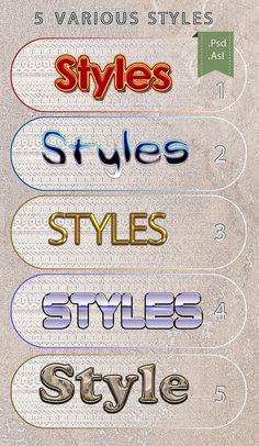 Check out 5 Various PS Styles Font Part 3 by dian_dhanny on Creative Market