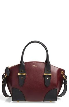 Alexander+McQueen+'Small+Legend'+Two-Tone+Calfskin+Leather+Satchel+available+at+#Nordstrom