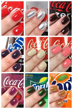 OPI Coca-Cola Collection Review & Swatches #bbloggers #nails #nailpolish