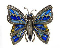 Butterfly Diamond Brooch
