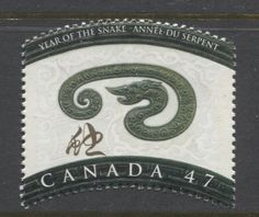 Canada #1883 47c 2001 Year of the Snake  DF/DF Paper - VF-80 NH | eBay