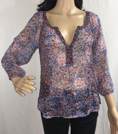 American Eagle Outfitters Sheer Floral Blouse Sexy BOHO Style Top - XS  | eBay