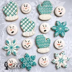 100 Christmas Cookies Decorations That Are Almost Too Pretty To Be Eaten - Hike n Dip - - Here are the best Christmas Cookies decorations ideas for your inspiration. These Christmas Sugar Cookies decorated with royal icing are cutest desserts. Christmas Sugar Cookies, Christmas Sweets, Christmas Cooking, Noel Christmas, Holiday Cookies, Decorated Christmas Cookies, Snowflake Cookies, Decorated Cookies, Christmas 2019